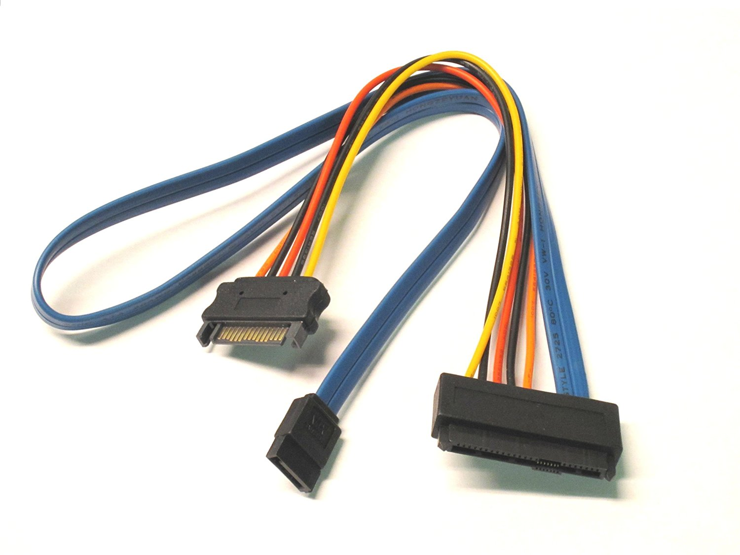 Micro SATA Cables - SAS 29 Pin to 7 Pin SATA Cable with 15 Pin SATA