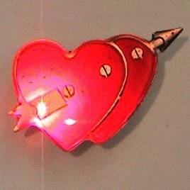 Double Heart Flashing Body Light Lapel Pins by Blinkee