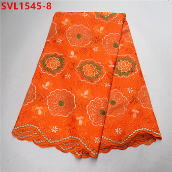 Beautifical orange swiss voile lace fabric with red embroidery Fashion design african bridal lace fabric