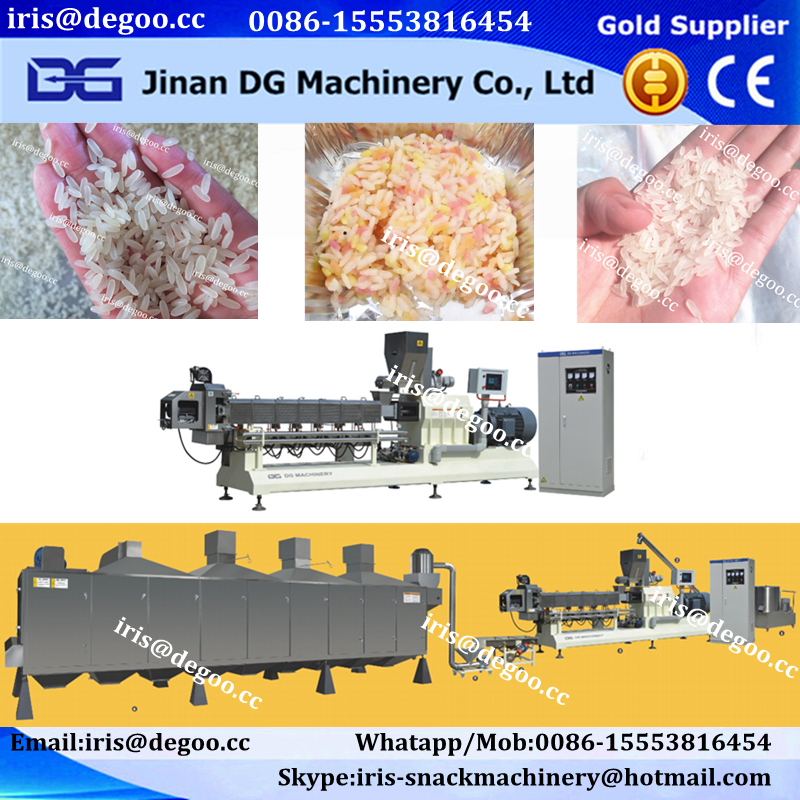 2017 DG Automatic artificial rice puff rice and rice flaker extruder machine