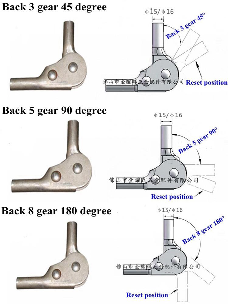 Metal Sofa Hinge Backrest Folding Ratchet Spare Parts 5 Level 2019 Durable