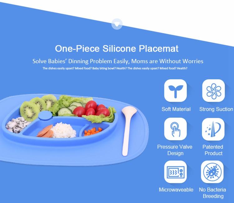 quadratische form lebensmittelqualit t silikon platte baby gummi teller gro handel sch ssel und. Black Bedroom Furniture Sets. Home Design Ideas