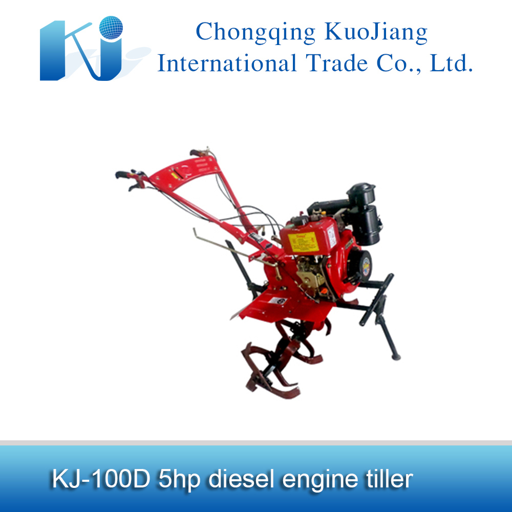 Bangladesh diesel power tiller KJD-100D with hoe machine