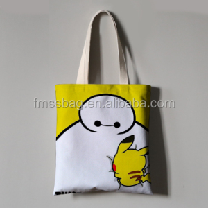 popular eco cotton canvas folding tote bag