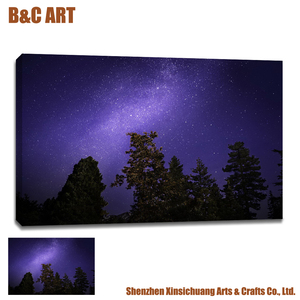 Starry Night Posters Wall Canvas Prints Fine Art Printing Service with Factory Price