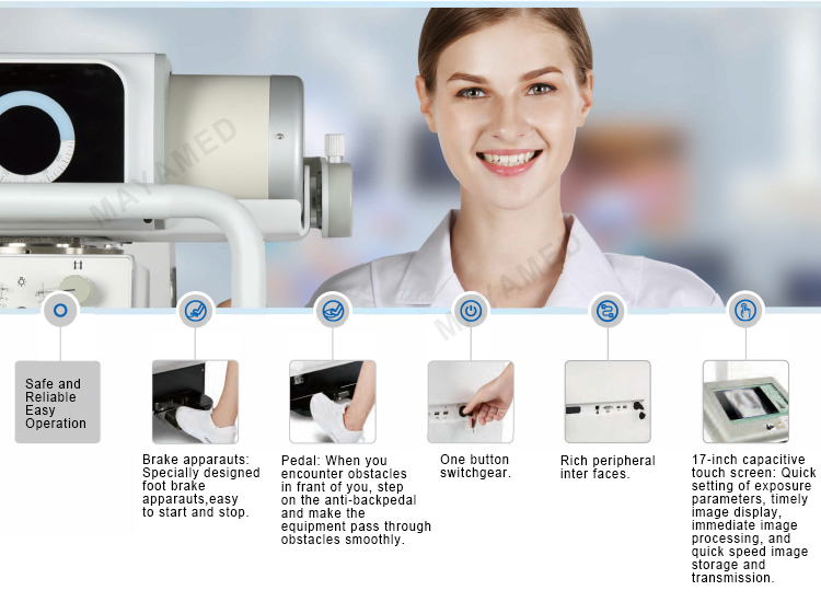 High Power MY-D049Q Safe and Reliable Mobile Digital Radiography System Easy Operation X-ray Machine Equipment price