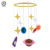 2019 hot sales sheep felt baby crib bed toy globe star and sun decor felt baby mobile hanger