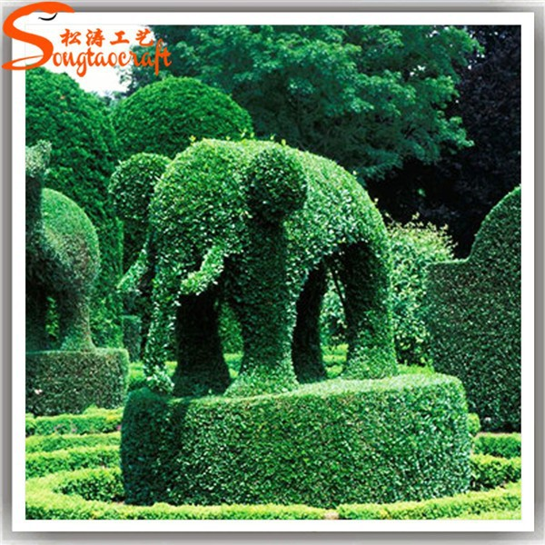 wholesale new style artificial garden topiary animals with wire topiary frames