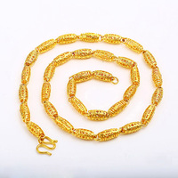 42373 New Arrival simple fashion designs gold plated Chain necklace for men