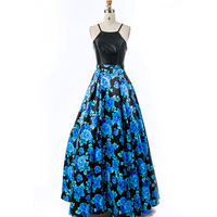 New Design Flower Printed Long Dress Wholesale Women Formal Dresses Prom