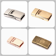 10*2.4mm Flat Alloy Magnetic Clasp Magnet Lock Wholesale Jewelry Findings Clasps for Flat Leather Bracelet