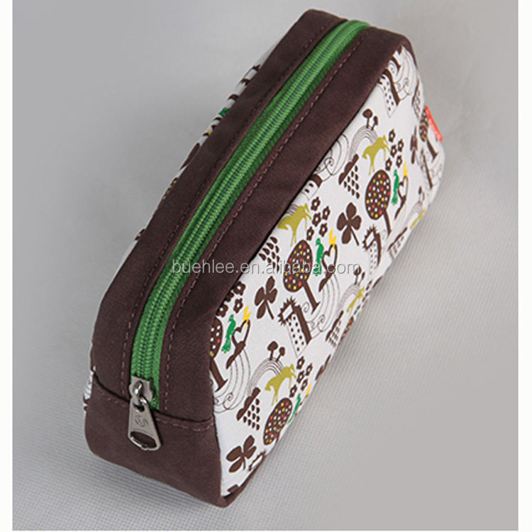 manufactory custom 9 OZ canvas make up cosmetic bags in china