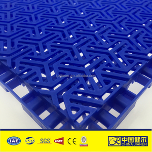 orange badminton court interlocking flooring