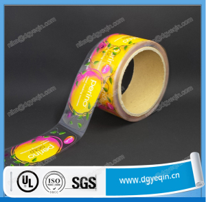 waterproof custom printed transparent pvc adhesive label sticker roll