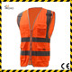 POCKETS polyester SAFETY ZIPPER high visibility sport high visibility running reflection vest