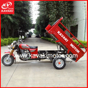 4 Stroke,single cylinder, air-cooled Engine Type and Gas Fuel cheap three wheel motorcycle bike