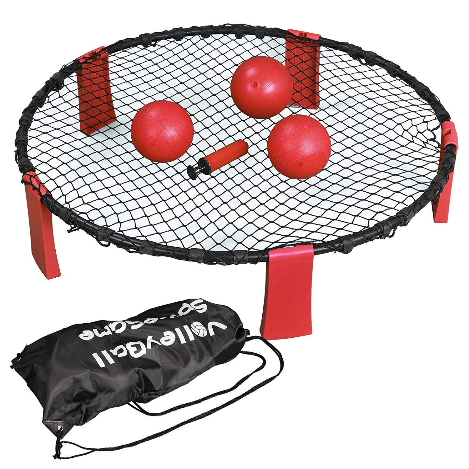 ZENSTYLE Volleyball Spike Game Set Strike Ball Game Set Included 3 Balls, Rules, Carrying Case, Outdoor/Indoor Bounce Game