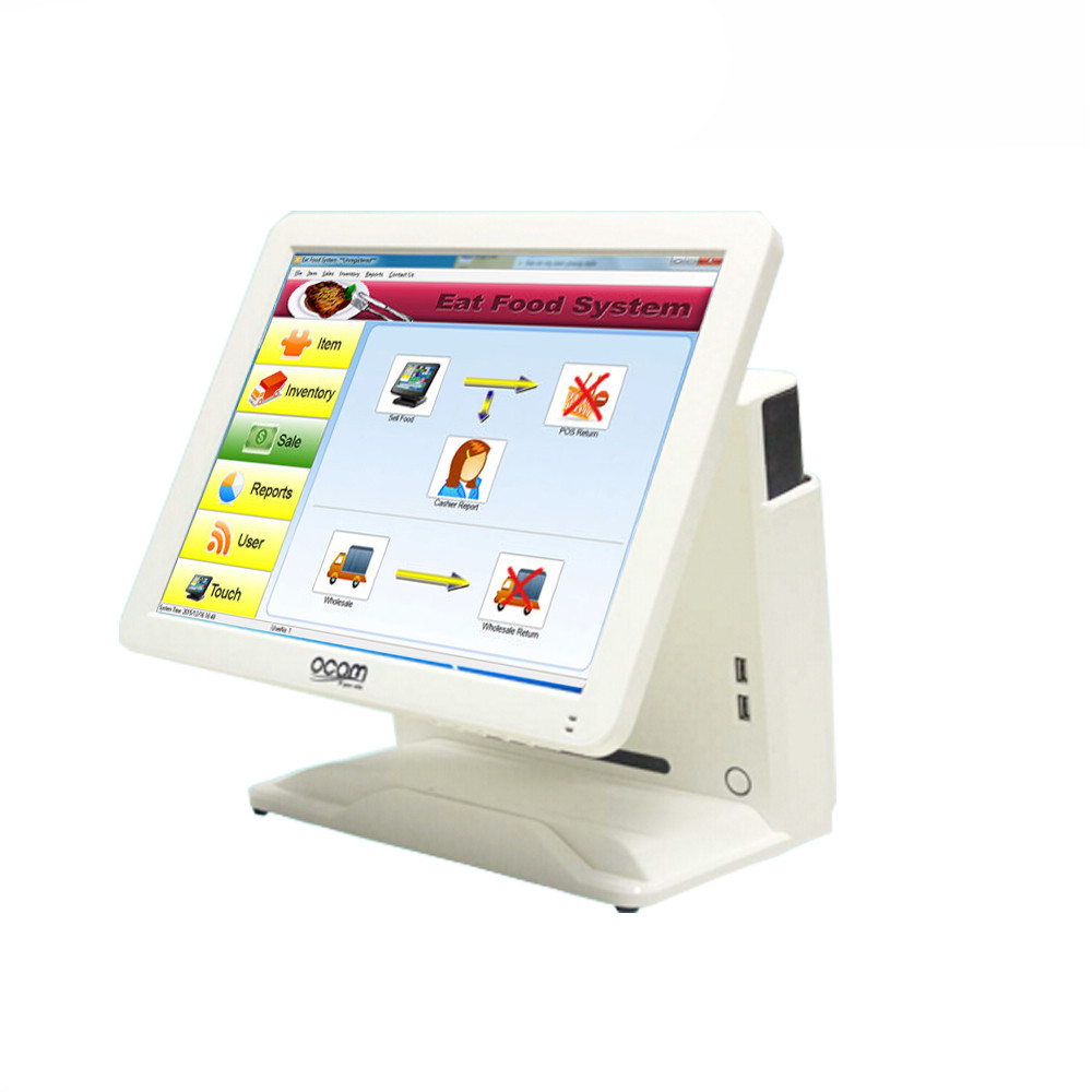Cheap Electronic Cash Register EPOS TILL 15-inch Touch POS Cashier Device for Restaurant/Canteen
