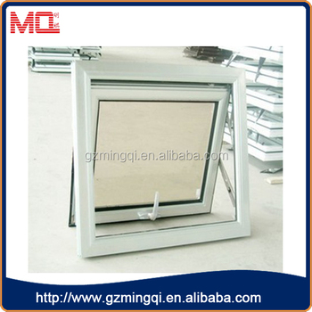 small type aluminum top-hinged bathroom windows with frosted glass