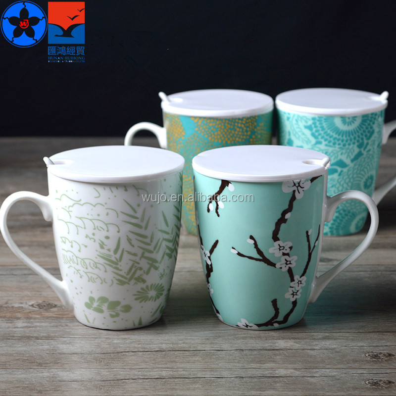 America best selling fine china ceramic coffee mugs with lids