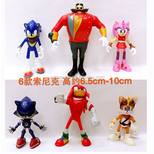 6Pcs/Set 7cm Sonic The Hedgehog Figures Toy Pvc Toy Sonic Shadow Tails Characters Figure Toy