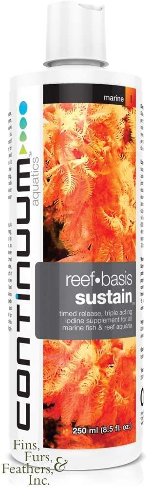 Continuum Aquatics Reef-Basis Sustain Triple Timed Release Iodine Liquid Supplement - 2 Liters