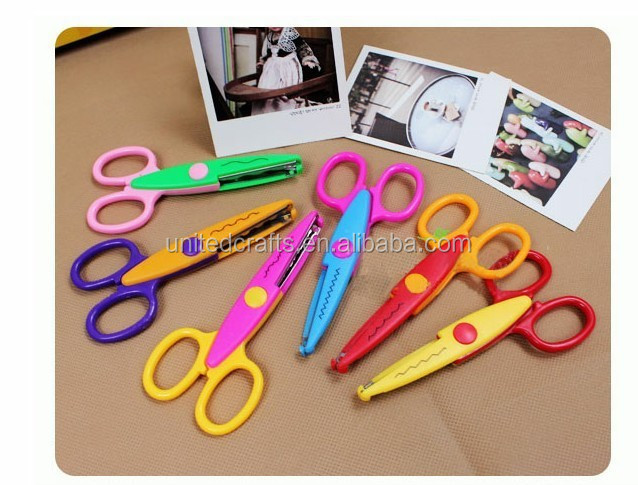 Hot Sell Kids Scissors for DIY Photo Album Handmade, 6 Patterns Laciness Scissors for Photo Album Card Decorative, DIY Scissors