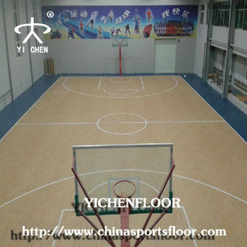 Indoor portable basketball court with standard size for for Indoor basketball court flooring cost