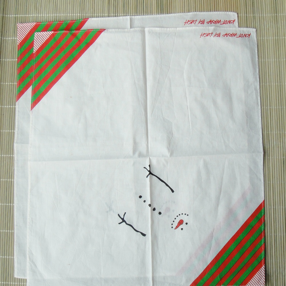 Custom cotton White Cotton Handkerchief