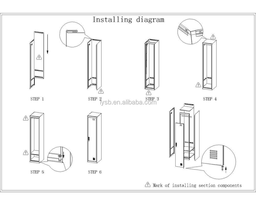 high quality single metal door air locker  school locker