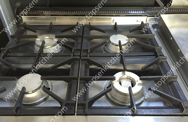 Latest Style Industrial Kitchen Gas Cooking Cooker Range, 4 Burner Gas Stove  With Oven,