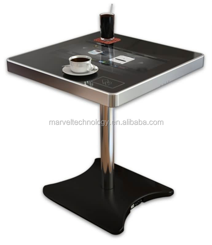 HD wifi 22 inch LCD AD media game table with touch screen