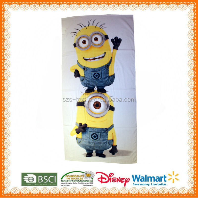 2014 Cartoon Fashion turkish organic cotton towel fabric