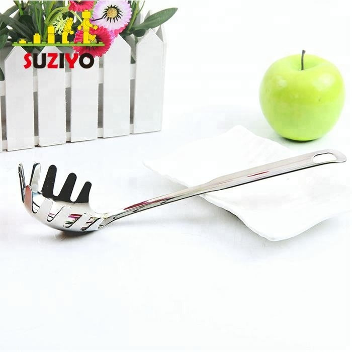 304 Stainless Steel Pasta Fork with Vacuum Ergonomic Handle, Comfortable Grip Design Spaghetti Server for Kitchen