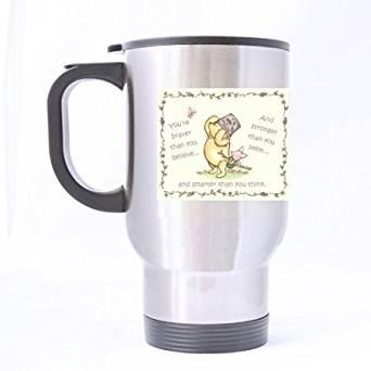 bdcdffa581e Get Quotations · Creative Custom Classic Pooh Travel Mug (Sliver)