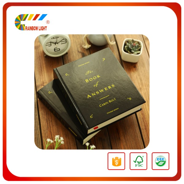 Promotional cut-price Eco friendly embossed wire binding hardbound Artpaper book printing