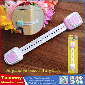 baby safety plastic cabinet lock security twist latch adhesive door lock