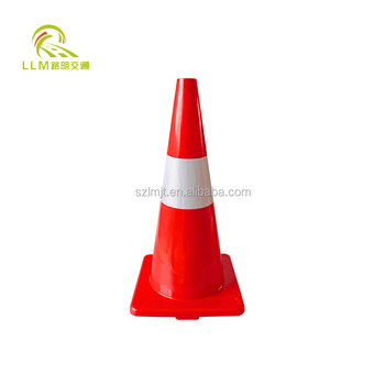 Top quality high flexible PVC road safety 750mm traffic cones