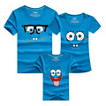 PSEEWE 9 Colors KIDS Cartoon baby shirts Boys Clothing Summer Style Family Outfits Mother Father Baby