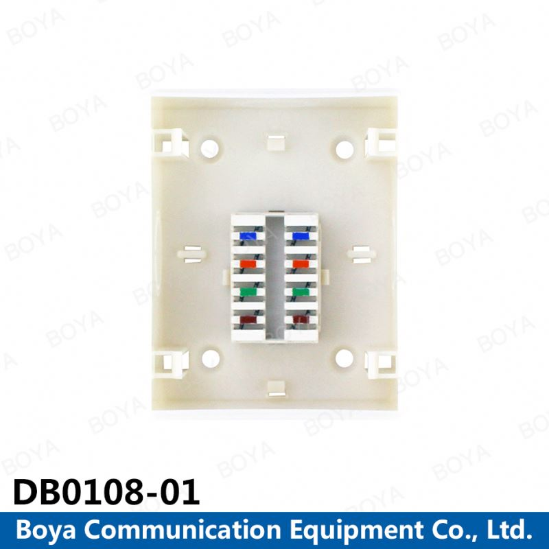for sale Cheap Price cat5e single port rj45 wall plate 8 pairs distribution box