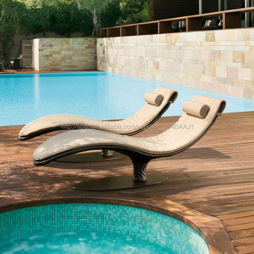 Al aire libre muebles de rattan mimbre silla de playa de - Muebles de playa ...