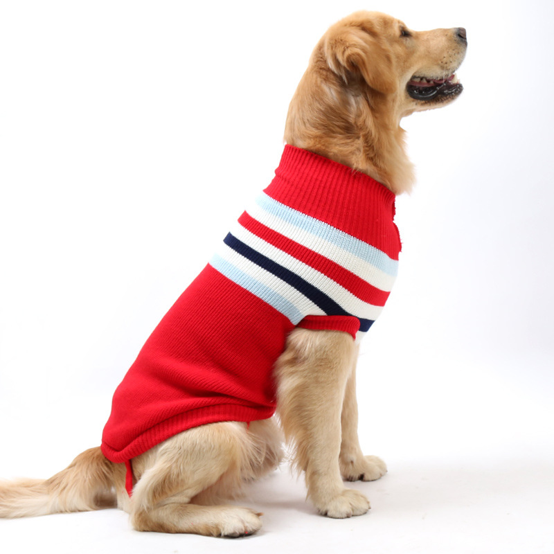 Winter Pet Clothes Warm Large Dog Sweater, New Coming British Style Sweater For Dog