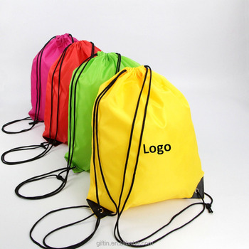Custom Drawstring Bags No Minimum Promotional Bag 210d Polyester