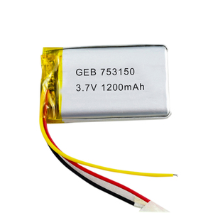 3.7V 1200mAh Li-polymer Rechargeable Batteries for Game Player, Mobile Phone