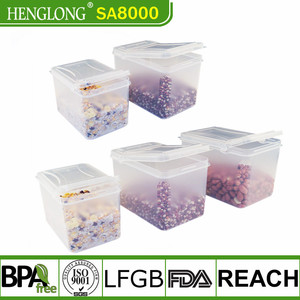 Amazon hot sale food grade plastic cereal container beans container cereal keeper