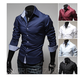 Discount walson Newest style custom mens long sleeve stripe dress shirts