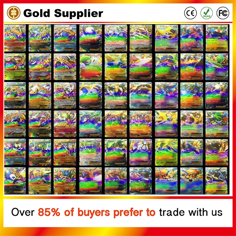 All Shiny No repeat Ex Pokemon Cards With Mega Cards Shiny Paper toys for kids Gift