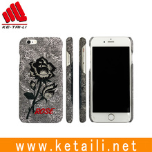 For iPhone 6 6s embroidery hard pc plastic abs mobile phone cellphone case cover manufacturer