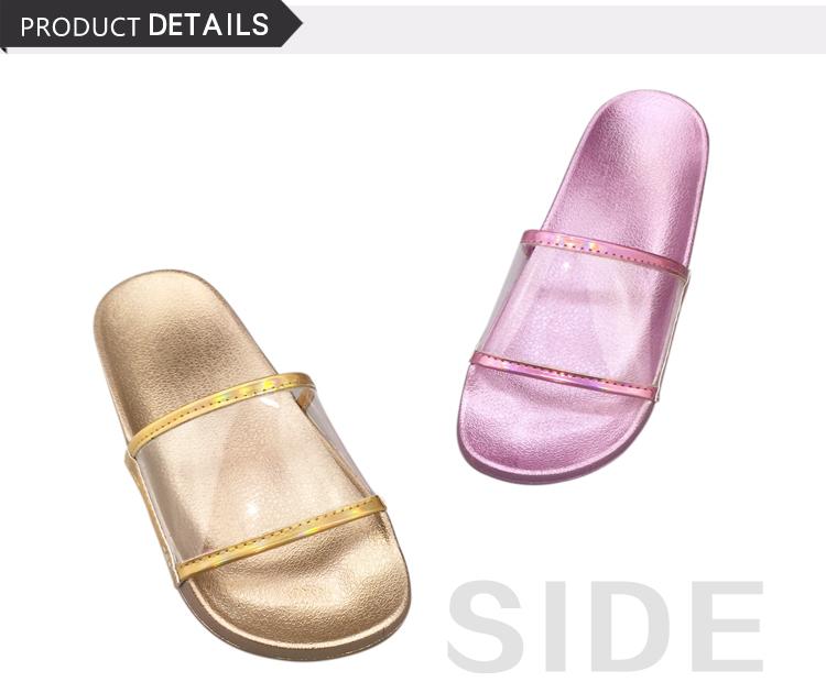 good quality ladies shoes flat transparent parent-child shoes
