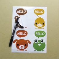 2017 OEM Wholesale Glossy Film Custom Cartoon Stickers Eco-friendly Vinyl Adhesive Waterproof Printing Kiss Cut Sticker Sheet